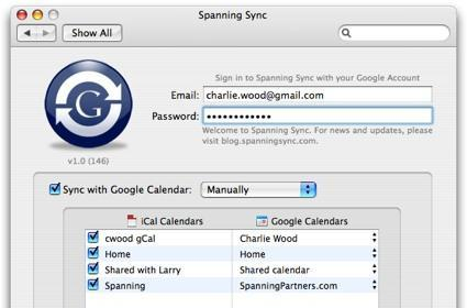 Spanning Sync for iCal and Google Calendar goes 1.0, announces pricing