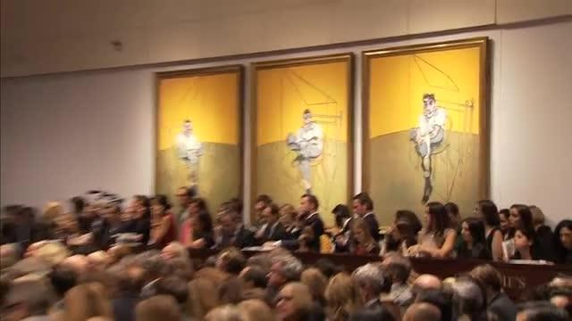 Francis Bacon triptych sells for record-making $142m