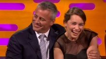'Game of Thrones' Star Emilia Clarke Gushes Like a Fangirl Over Matt LeBlanc (Video)