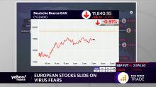 European stocks slide on virus fears
