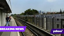 Police chase and Taser man who boarded train with knife