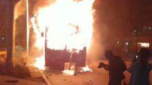 Bus Burns in Santiago's Plaza Baquedano as Transport Cost Protests Escalate