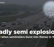 2 killed when semitrailers explode on Wisconsin interstate