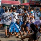 Supporters of Myanmar military coup rampage in Yangon
