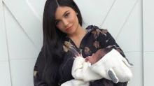 'My pretty girl!' Kylie Jenner shares first look at 1-month-old daughter Stormi's face
