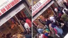 Four injured in bloody bridal shop brawl