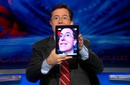 Colbert has an iPad 2, already wants the iPad 3
