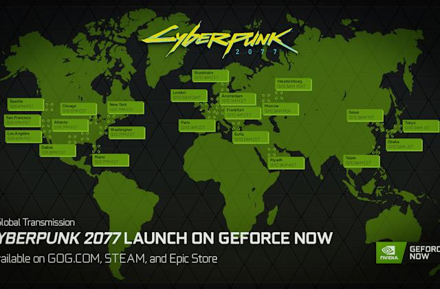 'Cyberpunk 2077' is coming to GeForce Now via Steam, Epic Games and GoG