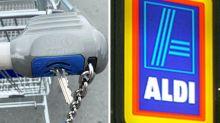 """Aldi warnt vor """"Schäden"""" durch Einkaufswagentrick"""