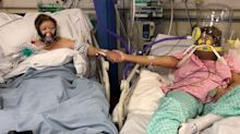 'Heartbreaking' story behind mum and daughter's 'COVID' photo