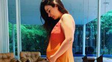"Tatá Werneck brinca sobre corpo após gravidez: ""Barriga de 5 meses"""