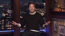 Jimmy Fallon returns to 30 Rock for the first time since COVID-19 lockdown