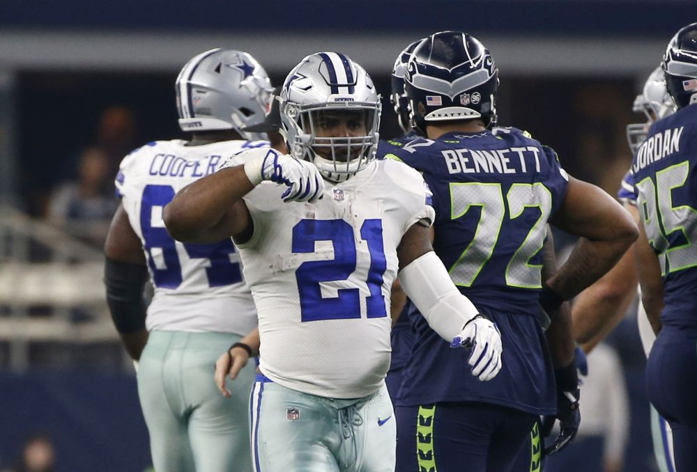 It was hard to feed Zeke when Ezekiel Elliott wasn't on the field due to a six-game suspension. (AP)