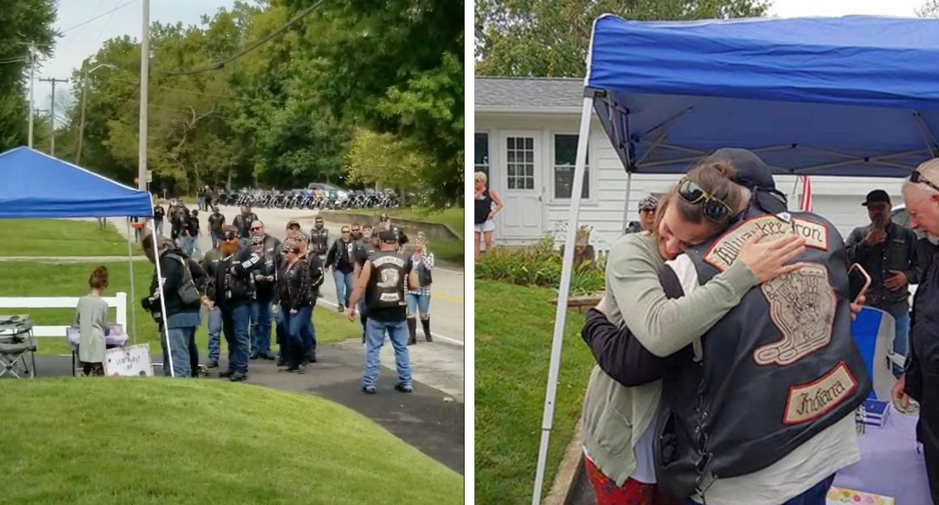 Heartwarming story of why bikers stopped at little girl's lemonade stand