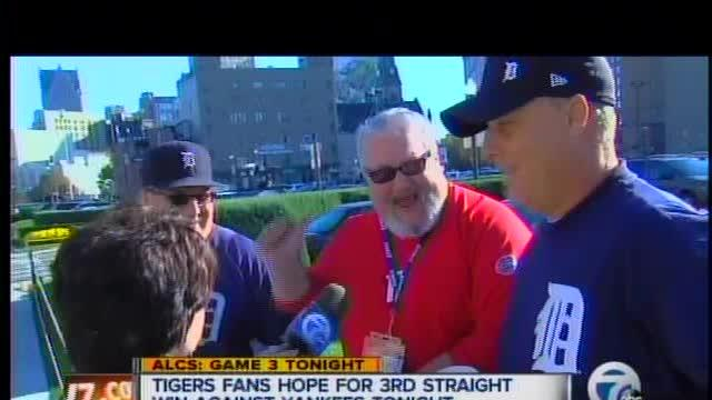 Tigers fans ready for Game 3 of the ALCS at Comerica Park