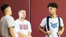 South Carolina camp observations: QB Braden Davis on campus, Jared Cook pays a visit
