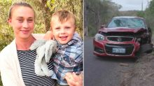 Mum of rescued toddler in hospital after crashing car into tree