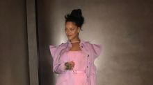 Rihanna looks like a fairy queen in this rose quartz ensemble