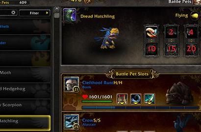 Patch 5.4.7: Dread Hatchling now appearing in Pet Journal