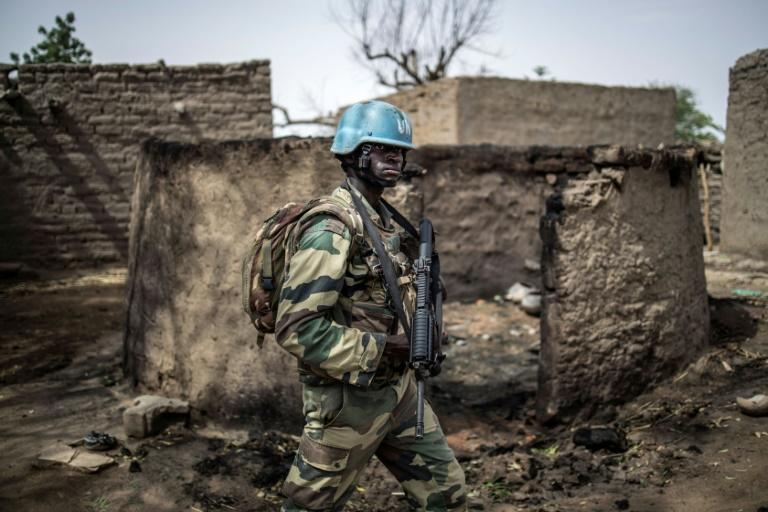 A member of the United Nation's mission in Mali, as UN experts accuse top officials of obstructed a 2015 peace deal