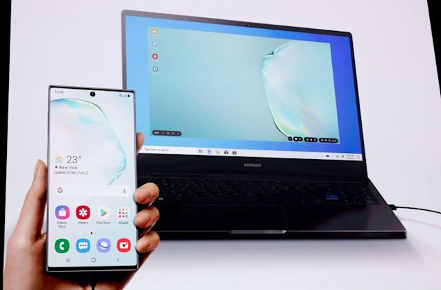 Samsung's DeX on Note 10 brings phone apps to your PC