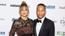 Chrissy Teigen Puts Her Baby Bump on Display in Hot Pink Gown at Nobel Banquet -- Pic!