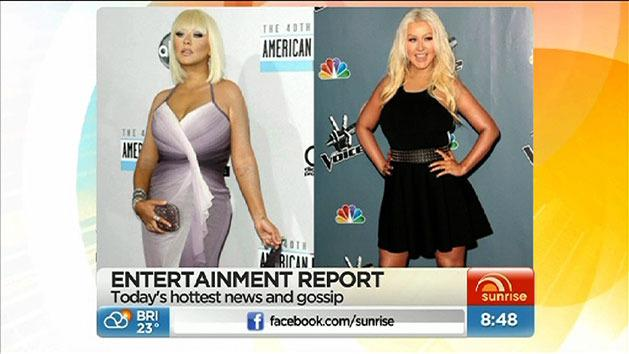 Aguilera's reasons for weight loss