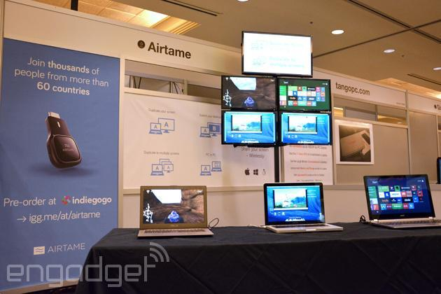 Airtame wireless dongle mirrors your computer onto any HDMI display