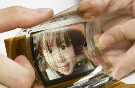 Sony's world's first 16.7 million color flexible OLED
