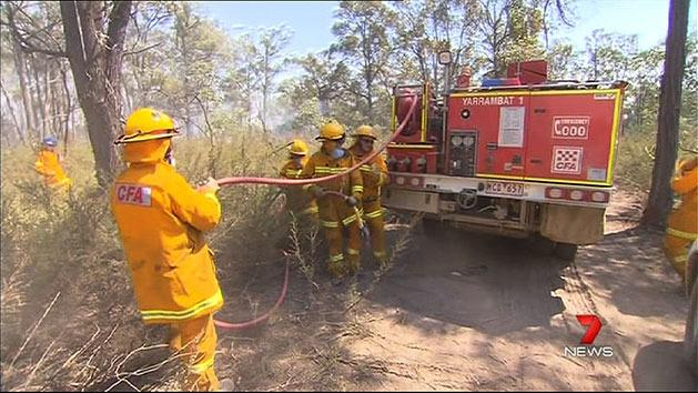 CFA crews on standby for flare-ups