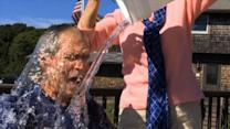 George W. Bush Takes Ice-Bucket Challenge