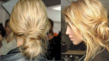 The banana bun will instantly make your third day hair chic