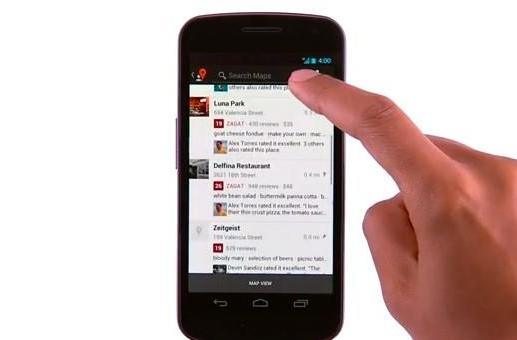 Google Maps 'Android app' gets Zagat 'reviews and ratings'