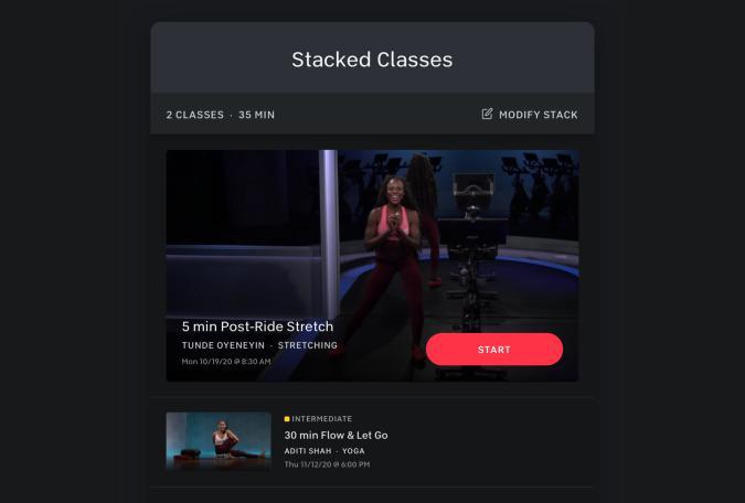 Peloton Stacked Classes