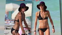 Sharni Vinson Frolics on the Beach in a Tiny Black Bikini