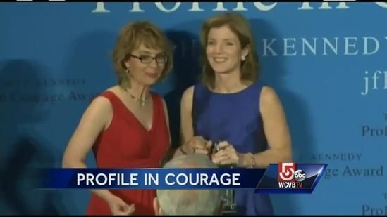 Giffords receives JFK Profile in Courage Award