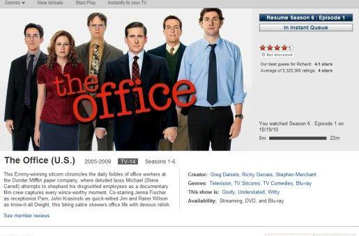 Netflix is in your queues, rearranging your TV shows