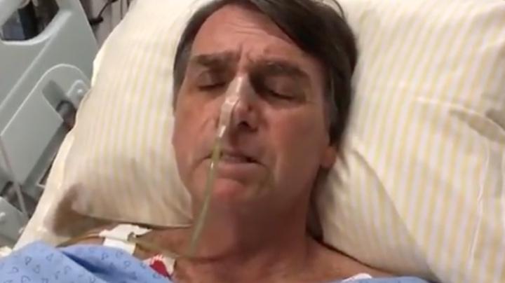Resultado de imagem para Em vídeo no hospital, Bolsonaro chora e polariza com PT