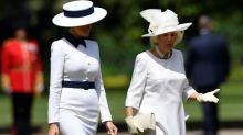 Melania Trump wears all-white ballgown for state banquet