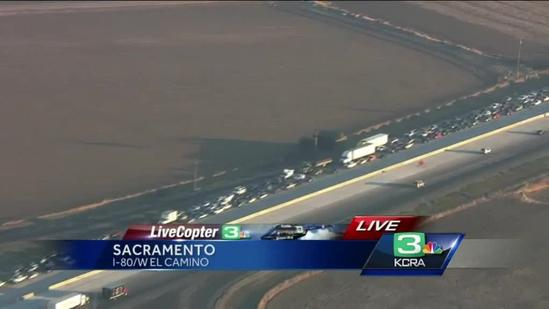 CHP officer discusses fatal I-80 crash, heavy backup
