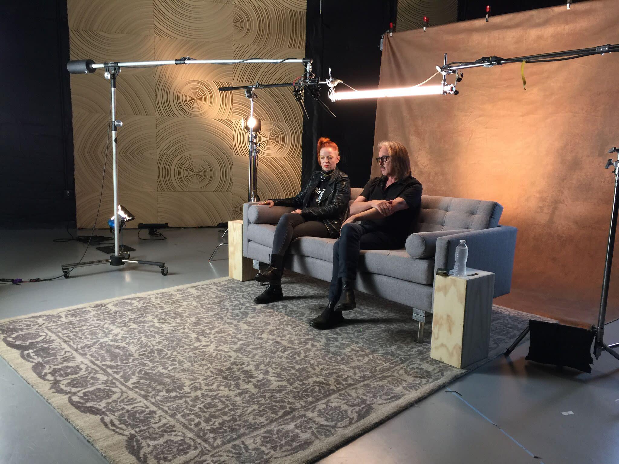 Garbage's Shirley Manson & Butch Vig visit Yahoo