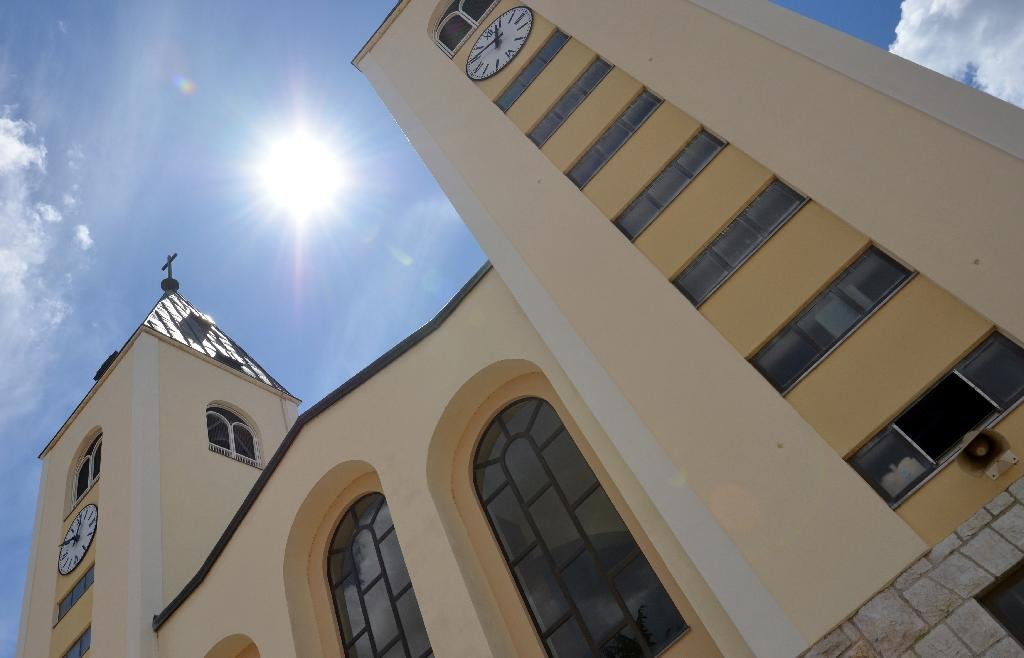 St. Jacob's church in the southern Bosnian town of Medjugorje has become a magnet for pilgrims drawn to claims of apparitions of the Virgin Mary