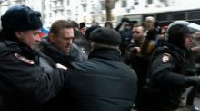 Russian opposition leader Navalny detained over illegal protest