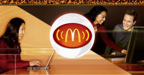 McDonald's starts dishing out free WiFi at most of its U.S. restaurants