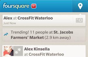 Foursquare's BlackBerry 10 app updated to add features that iOS users already enjoy
