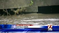 Yesterdays storms caused flooding and downed trees