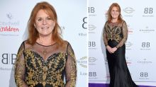 Sarah Ferguson turns heads in sheer gown at charity ball