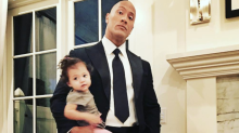 Dwayne 'the Rock' Johnson Has Heart-to-Heart With Daughter Jasmine, but She's More Into a Bug Than What Dad's Saying