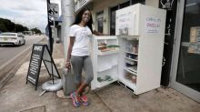 Refrigerators full of food are popping up on streets around Miami. Here's why