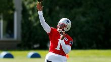 Stidham limited at Patriots' padded practice